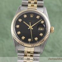 Rolex Datejust Arany/Acél 36mm Fekete