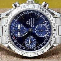Omega Speedmaster Date occasion 39mm Bleu Chronographe Date Affichage des jours Affichage des mois Tachymètre Acier