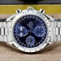 Omega Speedmaster Date Steel 39mm Blue No numerals