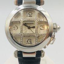 Cartier Witgoud Automatisch Zilver Arabisch 32mm tweedehands Pasha