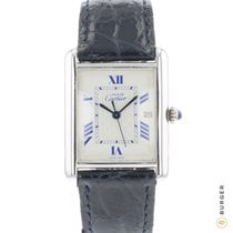 Cartier Tank (submodel) pre-owned 25mm White Crocodile skin