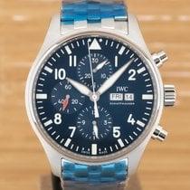 IWC Pilot Chronograph Stål 43mm Blå Arabisk