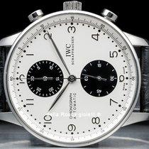 IWC Portuguese Chronograph Acero 41mm Blanco Árabes