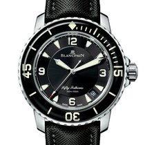 Blancpain Fifty Fathoms Steel 45mm Black Arabic numerals United Kingdom