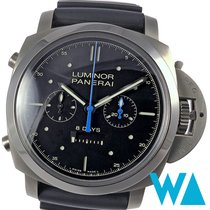 Panerai Luminor 1950 Rattrapante 8 Days Titânio 47mm Preto Sem números