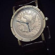 Corum Or jaune Quartz Coin Watch nouveau France, Paris