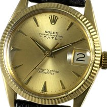 Rolex Oyster Perpetual Date Yellow gold 31mm Champagne No numerals