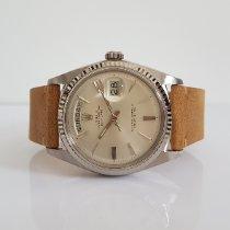 Rolex Day-Date 36 Or blanc 36mm Argent Sans chiffres France, Thonon les bains