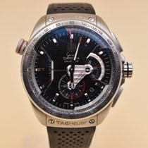 TAG Heuer Grand Carrera Steel 43mm Black No numerals United States of America, Texas, Houston