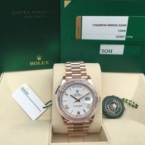 Rolex Day-Date 40 Oro rosado 40mm Blanco