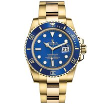 Rolex Submariner Date Yellow gold 40mm Blue No numerals United States of America, New York, New York