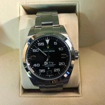 Rolex Air King Otel 40mm Negru Arabic