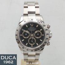 Rolex Daytona Stahl 40mm Schwarz Keine Ziffern