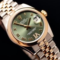 Rolex Lady-Datejust Or/Acier 31mm Vert Romain France, Strasbourg