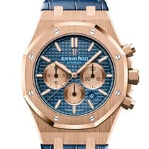 Audemars Piguet Royal Oak Chronograph Rose gold 41mm Blue No numerals United States of America, New Jersey, Totowa