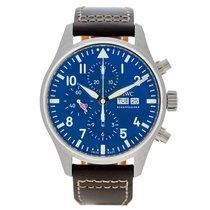 IWC Pilot Chronograph occasion 43mm Bleu Chronographe Date Cuir