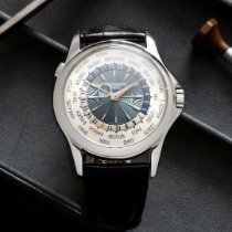 Patek Philippe World Time Platyna Niebieski