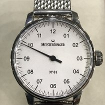Meistersinger N° 01 Steel 43mm White Arabic numerals