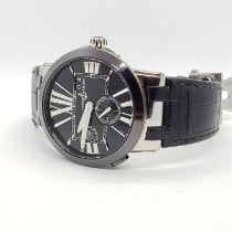 Ulysse Nardin Executive Dual Time pre-owned 43mm Black Date GMT Leather