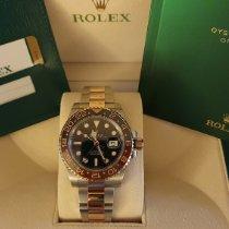 Rolex GMT-Master II Or/Acier Noir Sans chiffres France, LEVALLOIS PERRET