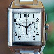 Jaeger-LeCoultre Reverso Squadra Chronograph GMT Stahl Silber