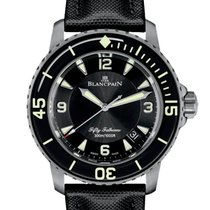 Blancpain Fifty Fathoms Titanium 45mm Black Arabic numerals United Kingdom