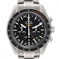 Omega Speedmaster HB-SIA pre-owned 44.2mm Black Date GMT Titanium