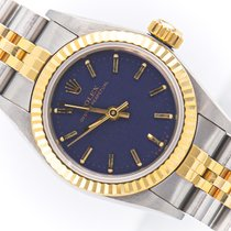 Rolex Oyster Perpetual 26 Gold/Steel 26mm Blue No numerals