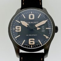 Pequignet Steel 42mm Automatic Péquignet Aviateur 4451443/S/CN new