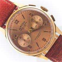 Chronographe Suisse Cie Ροζέ χρυσό 36mm Χειροκίνητη εκκαθάριση μεταχειρισμένο