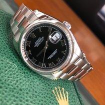 Rolex Datejust Acciaio 36mm Nero Romano Italia, Roma