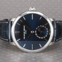 Frederique Constant Manufacture Slimline Moonphase Acero 42mm Azul