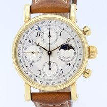 Chronoswiss Yellow gold Automatic Grey Arabic numerals 37mm pre-owned Lunar