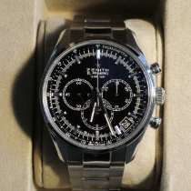 Zenith El Primero 36'000 VpH pre-owned 42mm Black Chronograph Date Tachymeter Steel