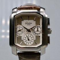 Glashütte Original Senator Karrée Steel 34,5mm Silver No numerals