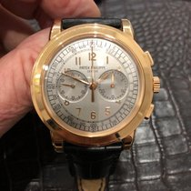Patek Philippe Chronograph Oro rosado 42mm Plata Árabes