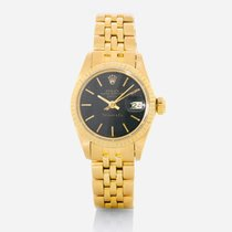 Rolex Oyster Perpetual Lady Date Yellow gold 26mm Black