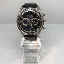 Zenith El Primero 36'000 VpH pre-owned 42mm Black Chronograph Date Crocodile skin