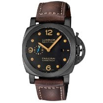 Panerai Carbon Automatic Black Arabic numerals 44mm new Luminor Marina 1950 3 Days Automatic