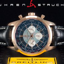 Breitling Transocean Unitime Pilot Oro rosado 46mm Negro