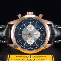 Breitling Transocean Unitime Pilot Oro rosa 46mm Negro