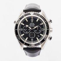 Omega Seamaster Planet Ocean Chronograph Acier 45,5mm Noir Arabes