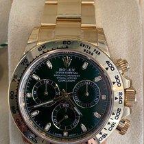 Rolex Daytona Gelbgold 40mm Grün Keine Ziffern