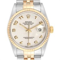 Rolex Datejust Steel 36mm Champagne Arabic numerals