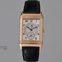 Jaeger-LeCoultre Red gold Manual winding Silver 26mm pre-owned Reverso Grande Taille