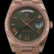Rolex Or rose Remontage automatique Rose Sans chiffres 40mm occasion Day-Date 40