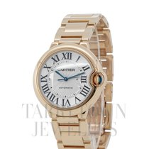 Cartier Ballon Bleu 36mm Yellow gold 36mm Silver Roman numerals United States of America, New York, Hartsdale