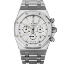 Audemars Piguet Royal Oak Chronograph Staal 39mm Wit Geen cijfers