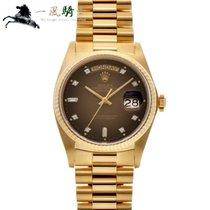 Rolex Day-Date 36 Ouro amarelo 36mm Castanho