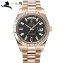 Rolex Day-Date II Oro rosa 41mm Nero